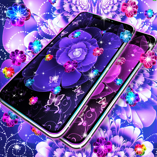 Glowing flowers live wallpaper screenshot 5