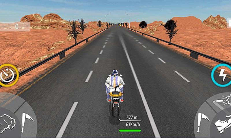 Bike Attack Race Highway Tricky Stunt Rider screenshot 3