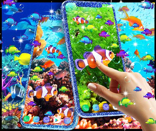 الأسماك خلفية حية 1 تصوير الشاشة