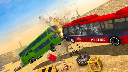 US Police Bus Demolition Derby Crash Stunts 2021 screenshot 5