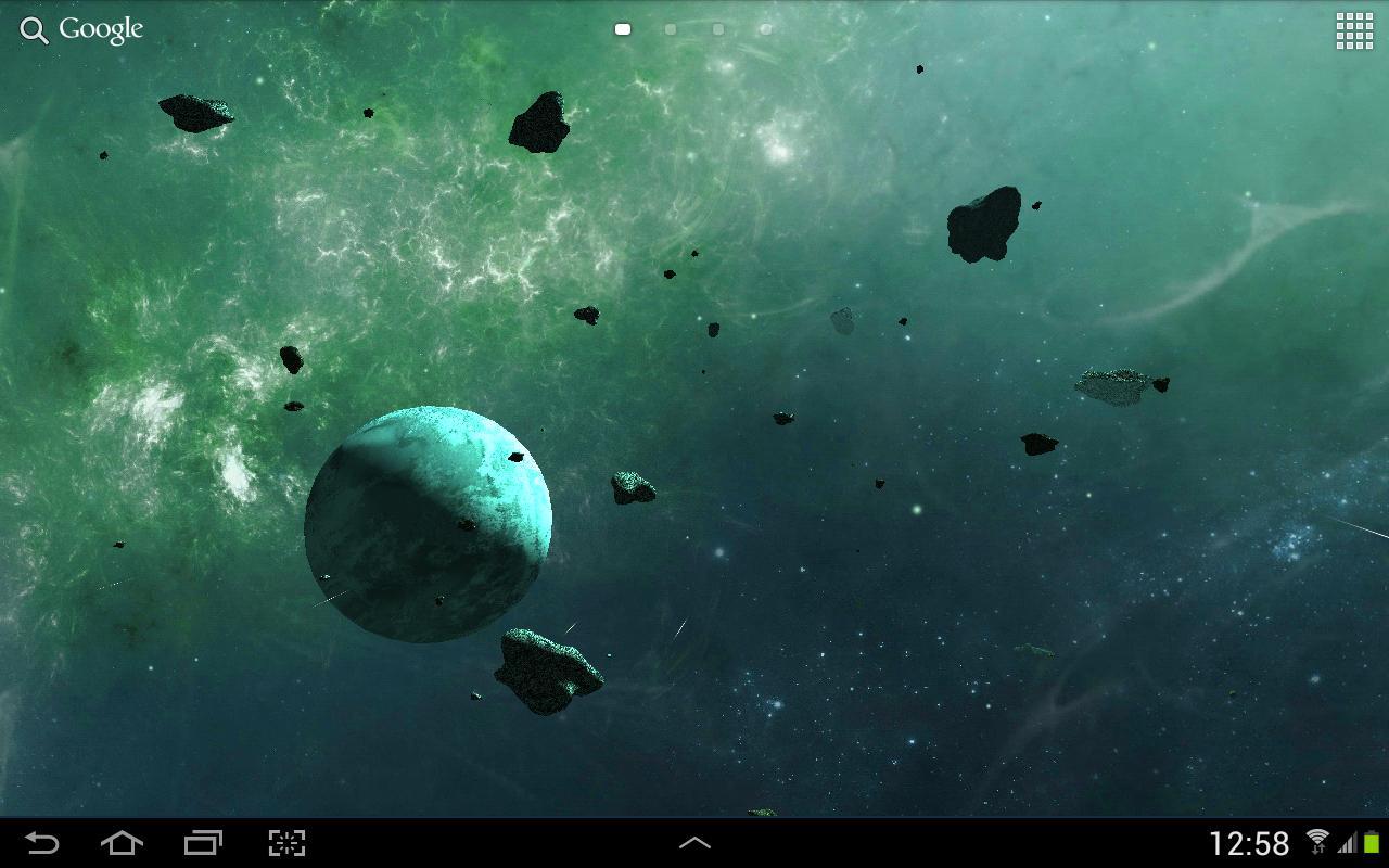 Asteroids 3D live wallpaper 15 تصوير الشاشة