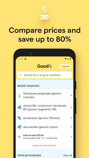 GoodRx: Prescription Drugs Discounts & Coupons App 3 تصوير الشاشة