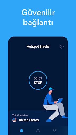 Hotspot Shield Ücretsiz VPN vekil & WiFi Güvenliği screenshot 4