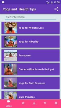 Yoga and Health Tips screenshot 2