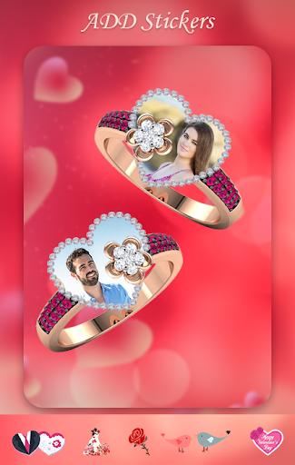 Lovely Ring Photo Frames : Love Couple Rings screenshot 2