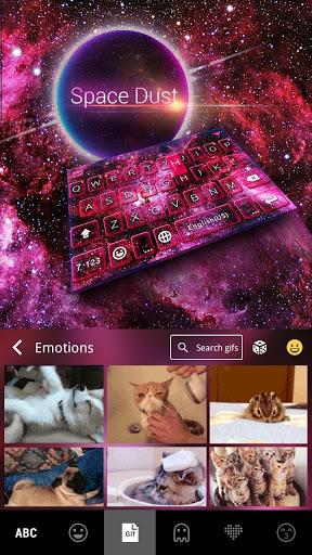 Spacedust Keyboard Theme screenshot 5