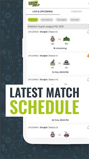 Cricingif - PSL 5 Live Cricket Score & News 5 تصوير الشاشة