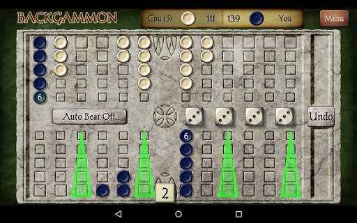 Backgammon Free 11 تصوير الشاشة
