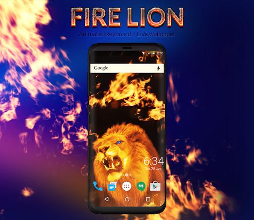 Fire Lion Animated Keyboard + Live Wallpaper screenshot 5