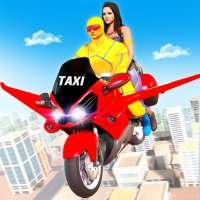 خارقة دراجة طائرة ألعاب محاكاة قيادة سيارات الأجرة on 9Apps