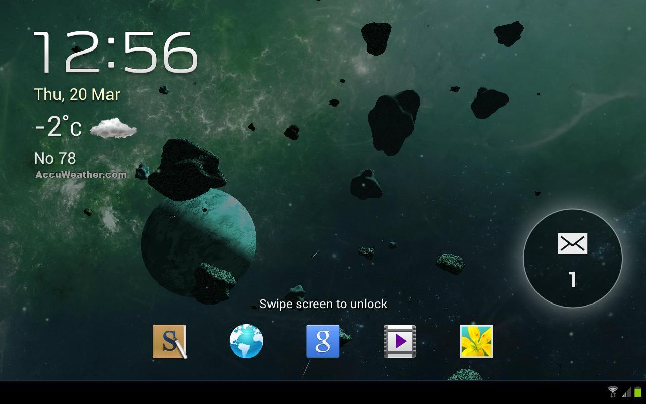 Asteroids 3D live wallpaper 12 تصوير الشاشة