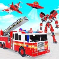 Firefighter Robot Transforming Truck Robot Games on 9Apps