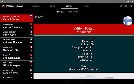Racing Calendar 2021 screenshot 13