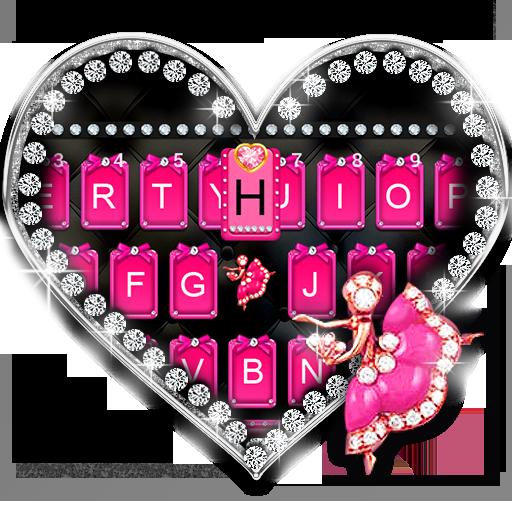 Pink Glamour girl Keyboard Theme icon
