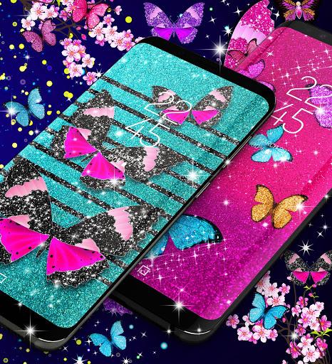Glitter butterfly live wallpaper 2 تصوير الشاشة