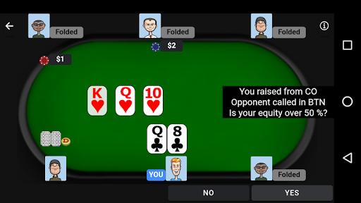 Poker Trainer - Poker Training Exercises 4 تصوير الشاشة