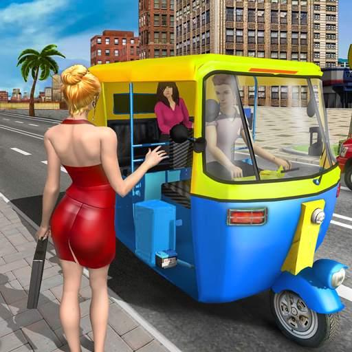 Modern Tuk Tuk Auto Rickshaw: Free Driving Games