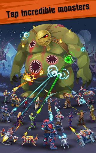 Сlicker idle game: Evolution Heroes स्क्रीनशॉट 1