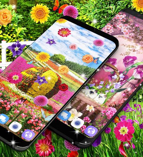 Flower garden live wallpaper 2 تصوير الشاشة