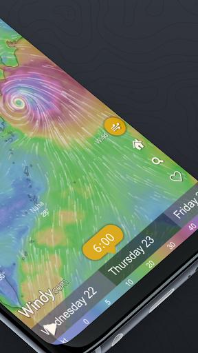 Windy.com: pronóstico de vientos, olas y huracanes screenshot 2