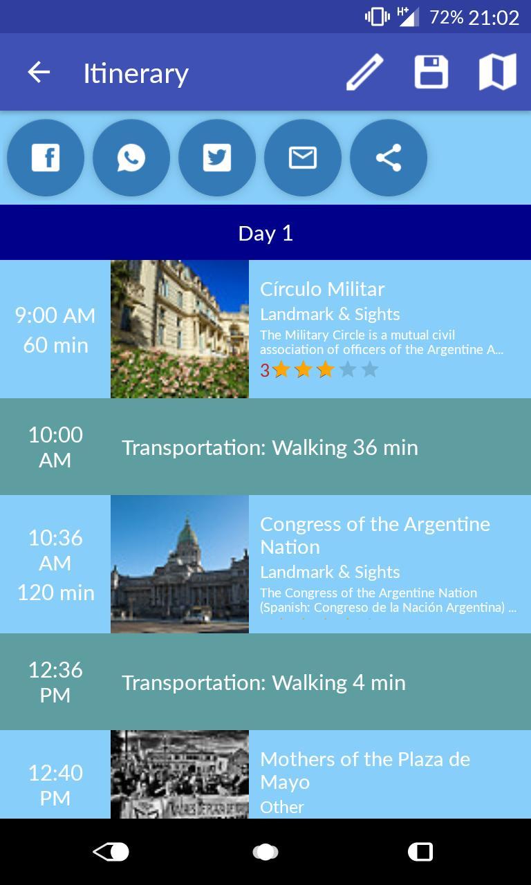 Tripomizer Trip Planner 1 تصوير الشاشة