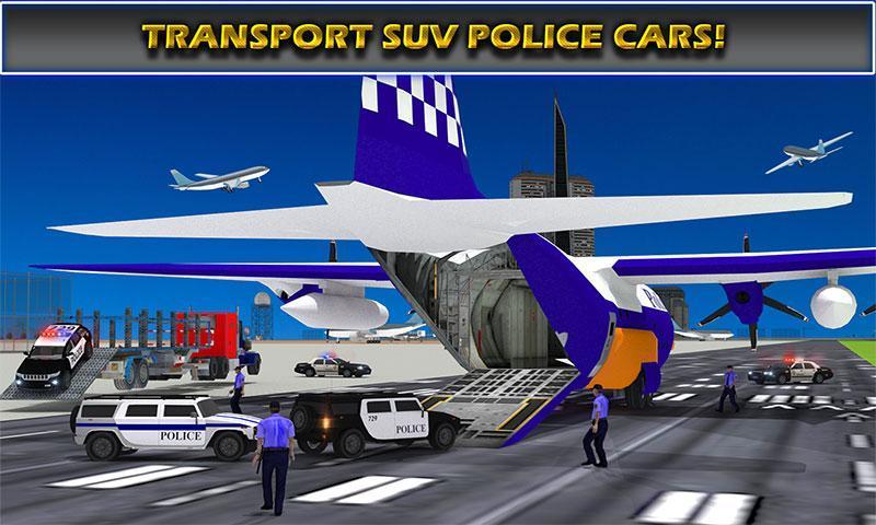 US Police Airplane Cop Dog Transporter Kids Games screenshot 4