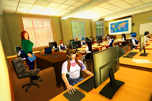 real High School Girl Simulator games स्क्रीनशॉट 11