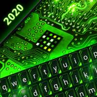 Green Light Cyber Circuit Wallpaper and Keyboard on APKTom