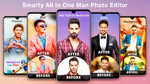 Smarty : Man editor app & background changer screenshot 1
