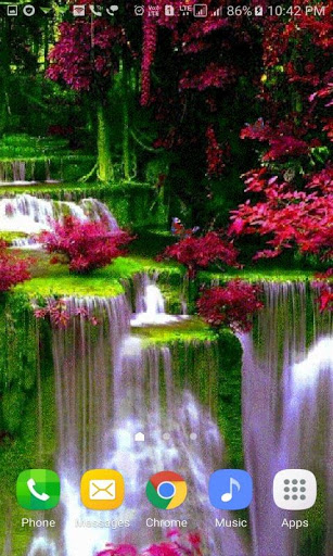 Waterfall Flowers LWP 2 تصوير الشاشة