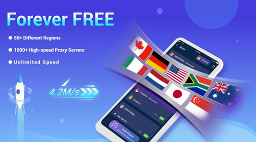 LightSail VPN, unblock websites and apps for free screenshot 1