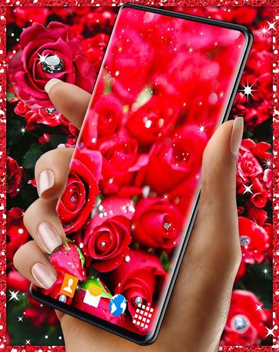 Diamond Rose Live Wallpaper ❤️ Shine HD Wallpapers 1 تصوير الشاشة