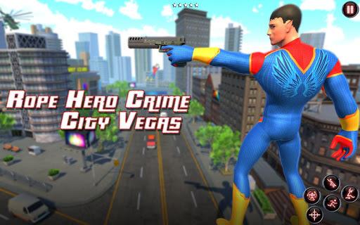 Rope Amazing Hero Crime City Simulator screenshot 10