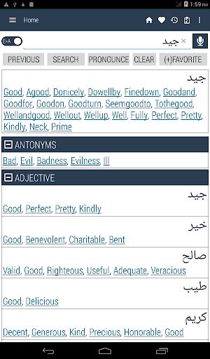 قاموس اللغة الإنجليزية العربية 10 تصوير الشاشة
