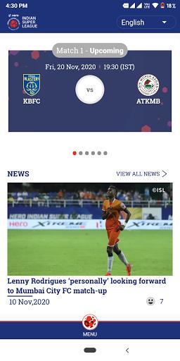 Indian Super League - Official App screenshot 1