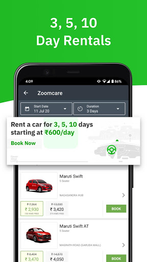 Zoomcar - Sanitized Self-drive car rental service 5 تصوير الشاشة