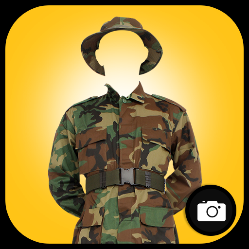Army Suit Photo Montage أيقونة