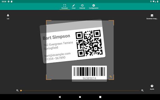 Lector de códigos QR y barras (español) screenshot 11