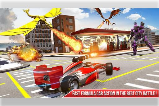 Formula Car Robot Transform - Flying Dragon Robot screenshot 5