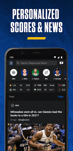 theScore: Live Sports Scores, News, Stats & Videos screenshot 2
