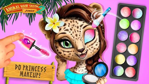 Jungle Animal Hair Salon 2 - Tropical Beauty Salon स्क्रीनशॉट 1
