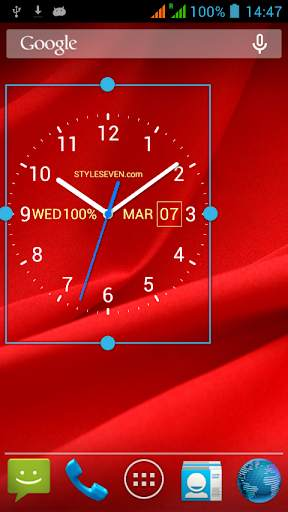 Analog Clock Live Wallpaper-7 screenshot 4