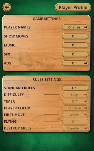 Nine men's Morris - Mills - Free online board game 13 تصوير الشاشة