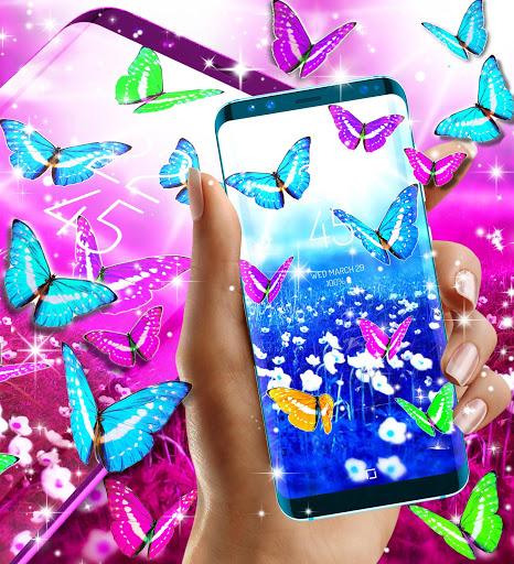 Butterflies live wallpaper 3 تصوير الشاشة