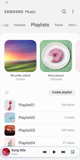 Samsung Music 4 تصوير الشاشة