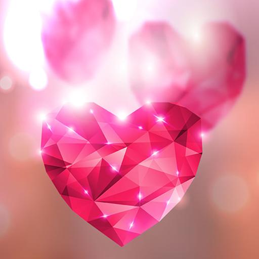 Diamond Hearts Live Wallpaper icon