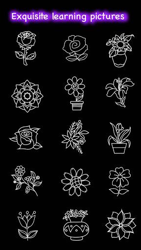 Learn To Draw Glow Flower скриншот 8