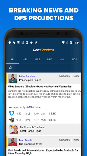 RotoGrinders - DFS Strategy, Lineups, and Alerts screenshot 4