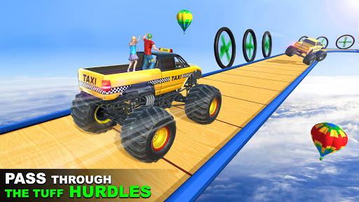 Grand Taxi Monster Truck Driving Stunt Racing Game screenshot 1