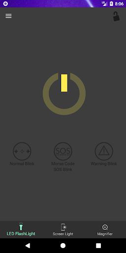 Super Flashlight - SOS Blink screenshot 1